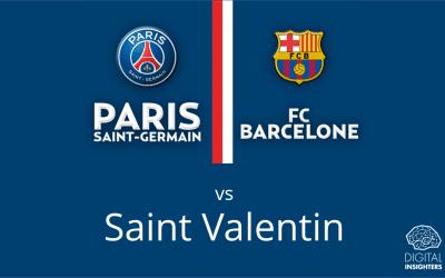 Le foot plus fort que l'amour ? PSG-Barça a battu la Saint Valentin