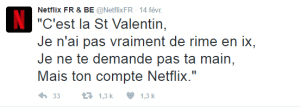 Tweet Netflix